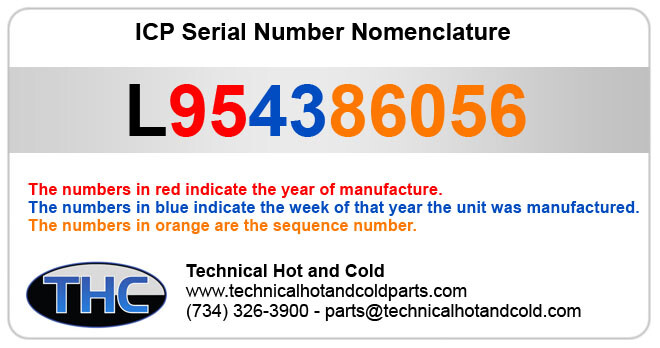 Serial Number Nomenclature - ICP, TempStar and Heil Parts on